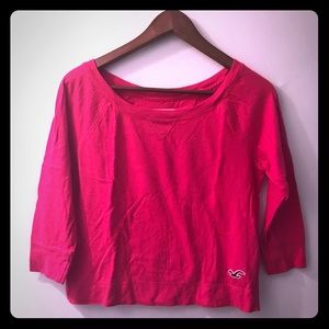 Hollister 3/4 Sleeve Cropped Top!!
